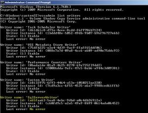 SQL VSS Writer