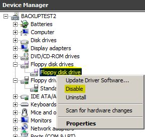 disable floppy