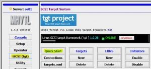 MHVTL Webmanagement Console GUI - iSCSI target quickstart