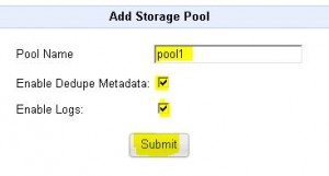 QUADStor - add pool1