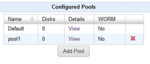 QUADStor VTL - Pool konfiguriert